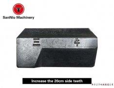 Increase 20 cm side teeth