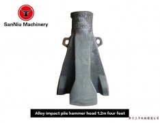 Four claws on 1.2 m alloy pile hammer machine