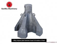 1.8 m alloy with five claws pile hammer machi