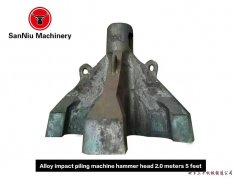 2.0 m alloy with five claws pile hammer machi